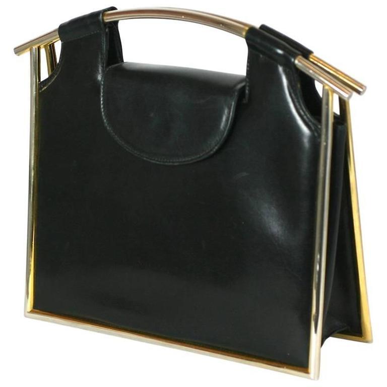 Tubular Structured Italian Calf Bag