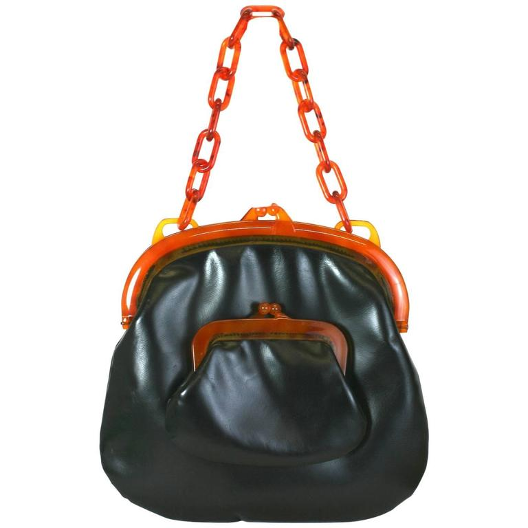 Koret Bakelite Trimmed Double Pouch Bag
