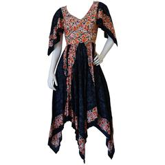1970s Biba Handkerchief Cotton Sundress