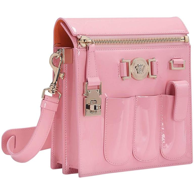 ef47a5cef1 VERSACE PINK PATENT LEATHER CROSSBODY BAG New w  Tags at 1stdibs