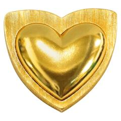 1980s  Escada Heart Brooch
