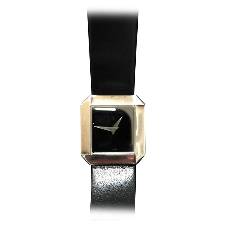 Georg Jensen Mid Century Sterling Silver Watch By Allan