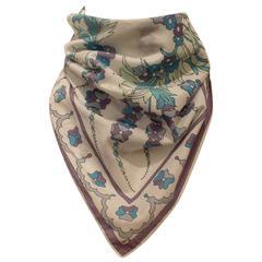 Vintage Pucci Cotton Neckerchief Floral Print