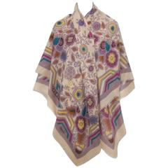 Gorgeous C.1980 Missoni Floral Wool Scarf Shawl Wrap