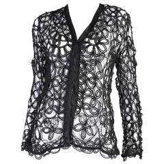 Edwardian Black Tape Lace Jacket