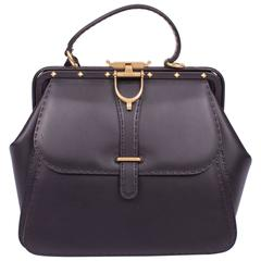 Gucci Lady Stirrup Top Handle Bag Limited Edition - black leather
