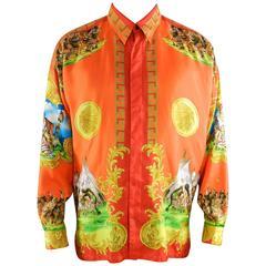 Gianni Versace 1993 Barocco Silk Printed Shirt – Native American