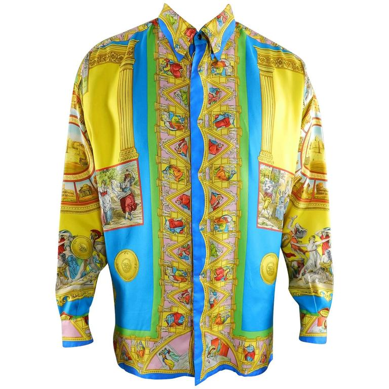 01bec1b6afffc Gianni Versace 1993 Barocco Silk Printed Shirt – Renaissance   Rome For Sale