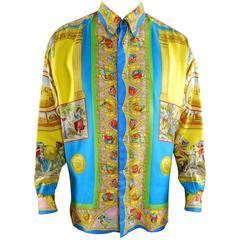 Gianni Versace 1993 Barocco Silk Printed Shirt – Renaissance / Rome