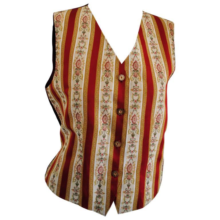 1980s Unknown Multicoloured silk Cotton Gilet