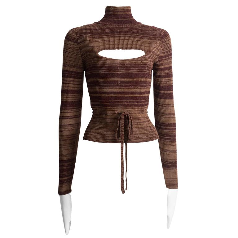 Vivienne Westwood striped wool sweater with corset 1