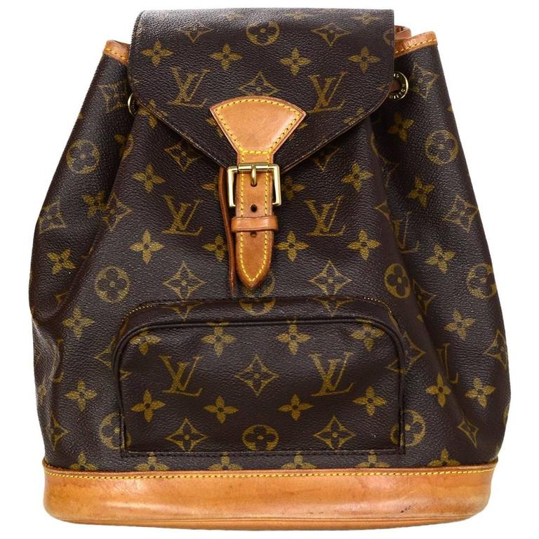 Louis Vuitton Monogram Montsouris MM Backpack Bag For Sale