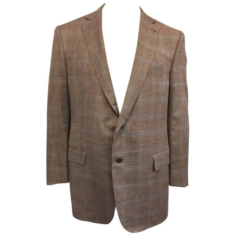 d87d98f5 Men's Ermengildo Zegna Windowpane Check Blended Sport Coat