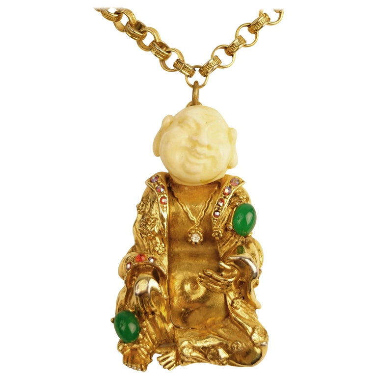 1960s art laughing buddha pendant for sale at 1stdibs 1960s art laughing buddha pendant for sale aloadofball Image collections