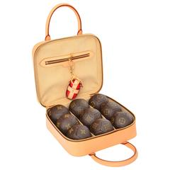 Limited Edition Louis Vuitton Petanque Ball Set  Home Decor Game   MINT