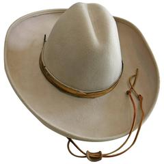 1980s Frank Olive Beige Golden Feather Hat