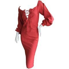 Yves Saint Laurent by Tom Ford Silk Safari Dress