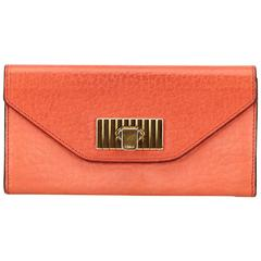 Chloe Red Leather Sally Wallet