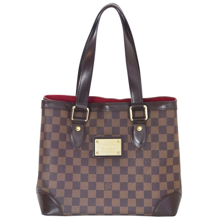 Louis Vuitton Damier Ebene Hempstead Pm Tote Bag For