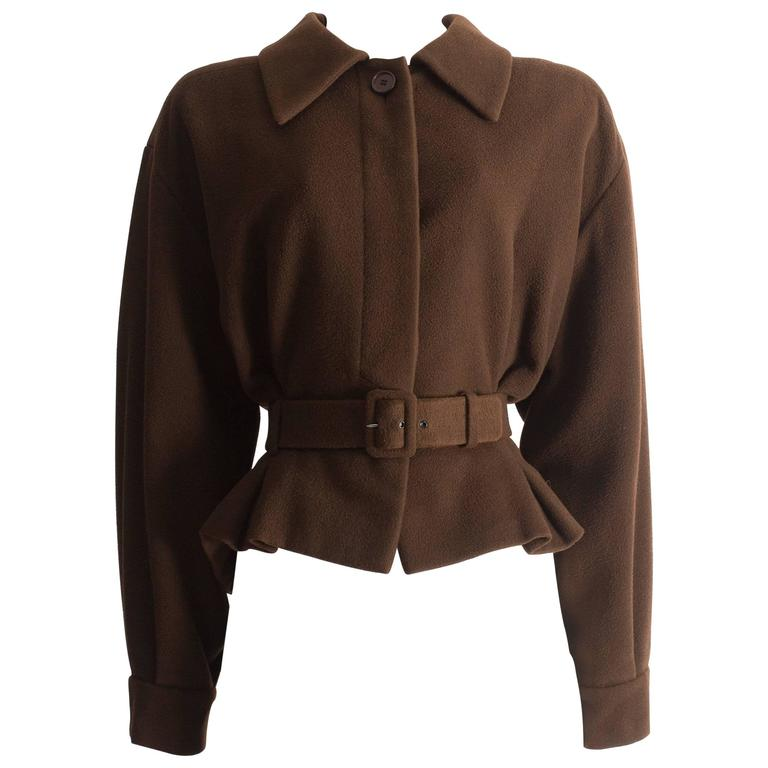 Christian Dior Haute Couture brown cashmere wool jacket, AW 1988 1