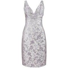 "ALEXANDER McQUEEN S/S 2007 ""Sarabande"" Floral Brocade Sleeveless Shift Dress"