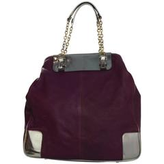 Lanvin Raspberry Leather Tote Bag