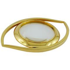 Hermes Vintage Cleopatra Eye Desk Magnifying Glass Paperweight