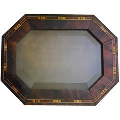 Men's Rare Bois Extreme Mahogany and Marquetry Inlay Octagonal Valet Box
