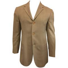 Men's Giorgio Armani Black Label Unconstructed Silk Blend Sport Coat