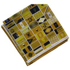 """Hermes """"En Voyage"""" 2009/10 Silk Scarf 90cm with Box"""