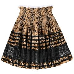 GIVENCHY Resort 2011 High Waist Accordion Pleated Leopard & Lace Circle Skirt