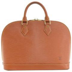 Louis Vuitton Alma Brown Kenyan Fawn Epi Leather Hand Bag