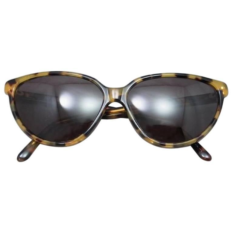 80's vintage Balenciaga French made marble brown frame sunglasses.
