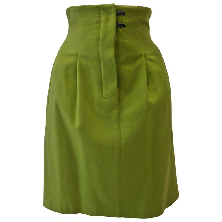 Unique Claude Montana High Waisted Skirt
