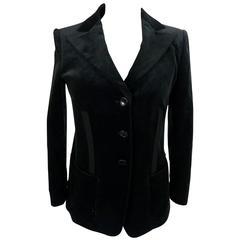Armani Collezioni 1990s jacket Women's classic velvet blazer black size 42