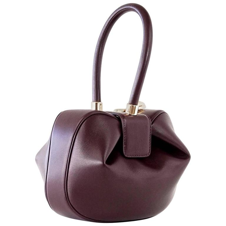 e642fde6f Gabriela Hearst Limited Edition Bordeaux Calf Leather Nina Bag For Sale