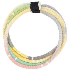 Four Strand Rope Necklace (yellow & green)