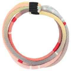 Hand Dyed Rope Necklace (pink/lavender/gray/salmon)