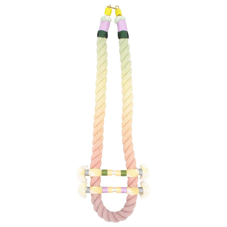 Split Rope Necklace (Lavender/Green/Orange) 1