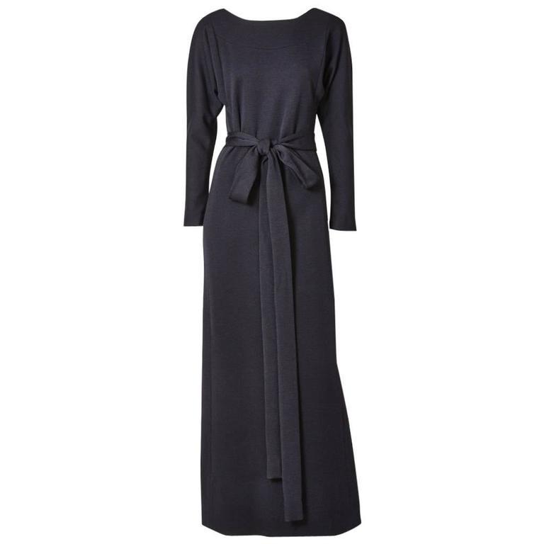 Norell Wool Jersey Evening Dress