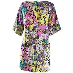 Chic 1960s Tori Richard for I Magnin Colorful Vintage Mini Dress or Swing Jacket