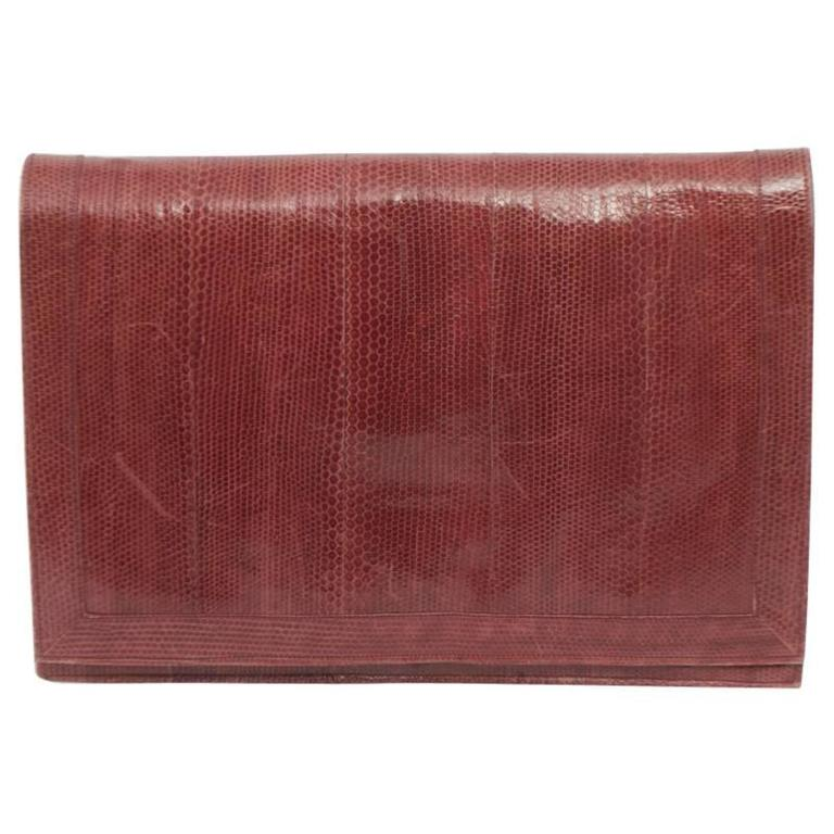 Rose Snake Briefcase Clutch