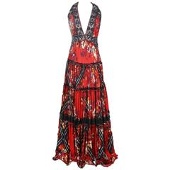 Jean Paul Gaultier Floral Panel Dress circa 1980s