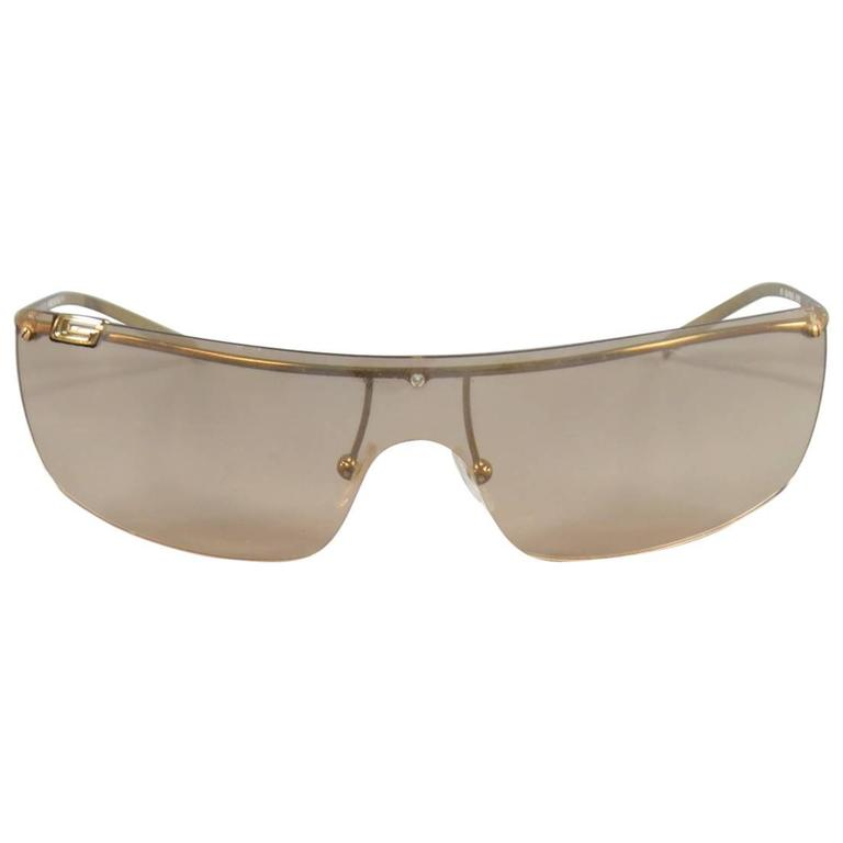 Gucci Shield Sunglasses  gucci 1719 gold tone metal rose gold grant shield sunglasses
