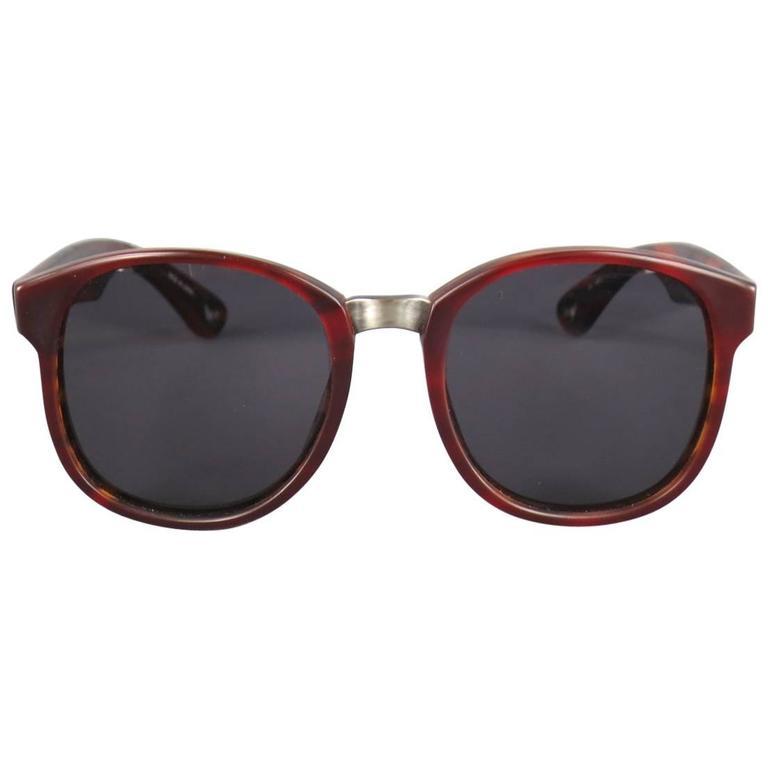 6865344b55 DAMIR DOMA x LINDA FARROW Light Brown Tortoise Shell Acetate Sunglasses For  Sale at 1stdibs