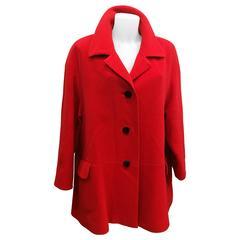 Escada by Margaretha Ley Wool Red Coat