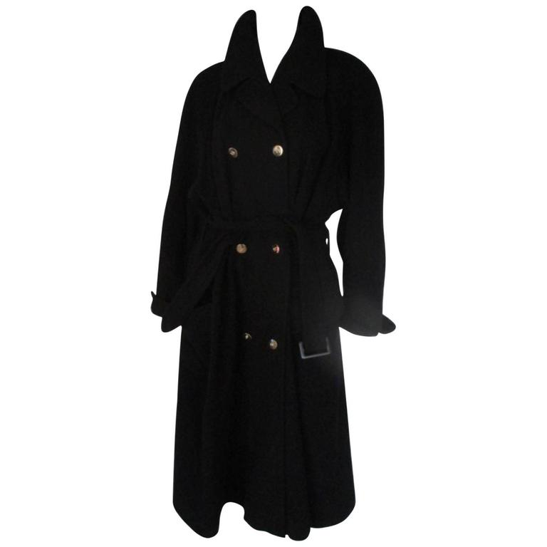 karl lagerfeld black cashmere blend coat