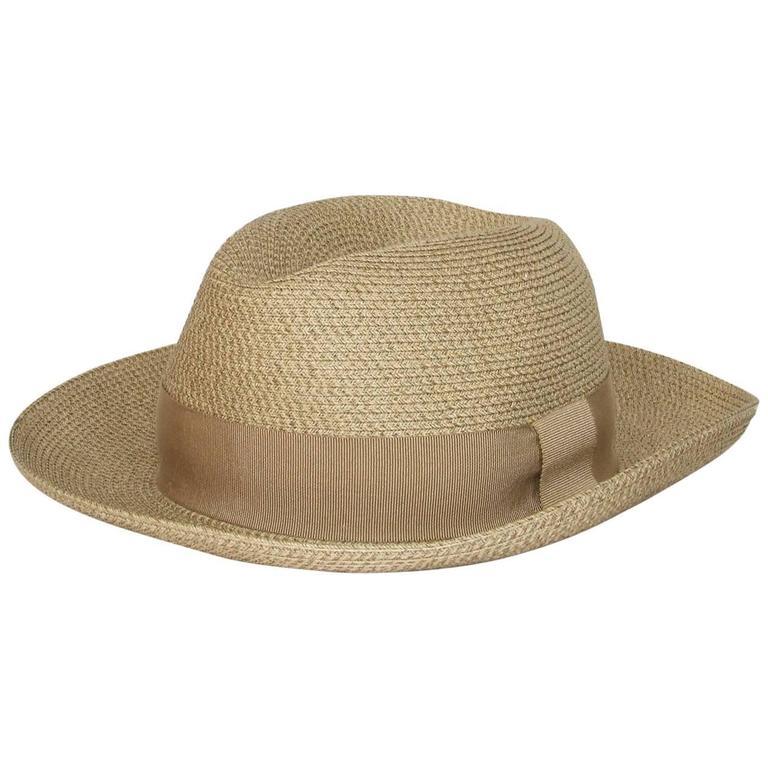 Hermes Sun Hat Panama Beige Size 57