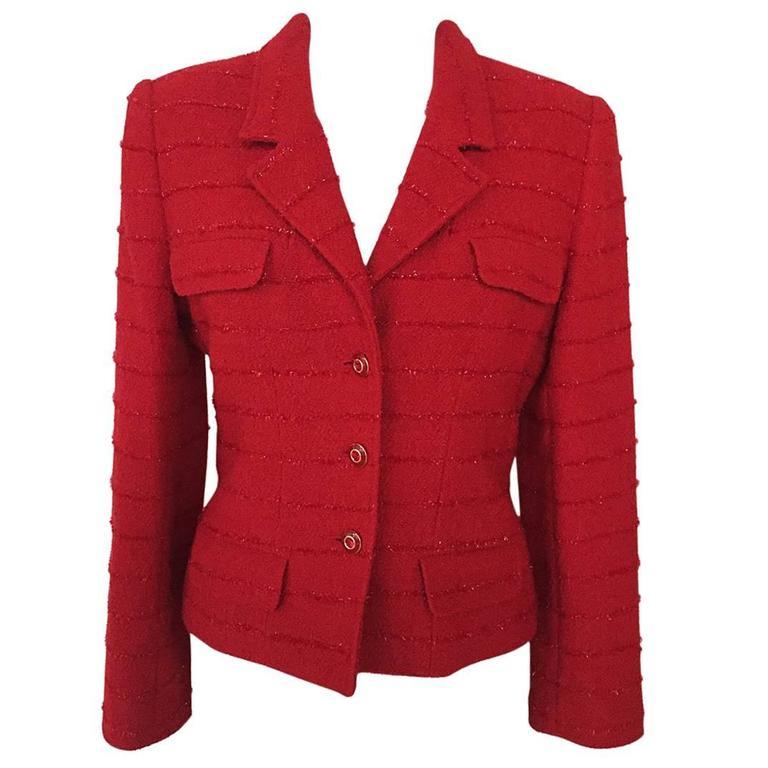 Carlisle Red Wool Blazer  1