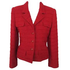 Carlisle Red Wool Blazer